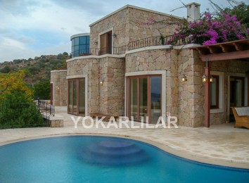 DETACHED LUXURY STONE VILLA FOR SALE IN YALIKAVAK.